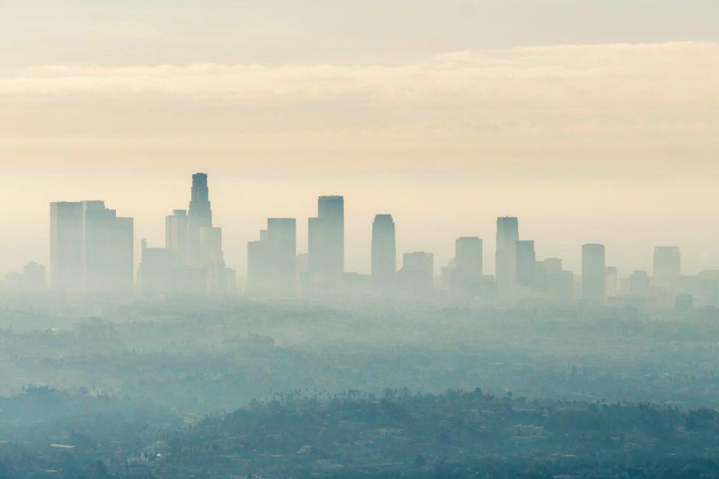 Island heat effect in Los Angeles, California